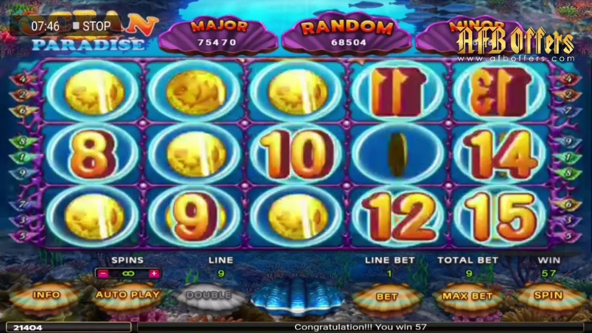 918Kiss Ocean Paradise Slot Game Malaysia