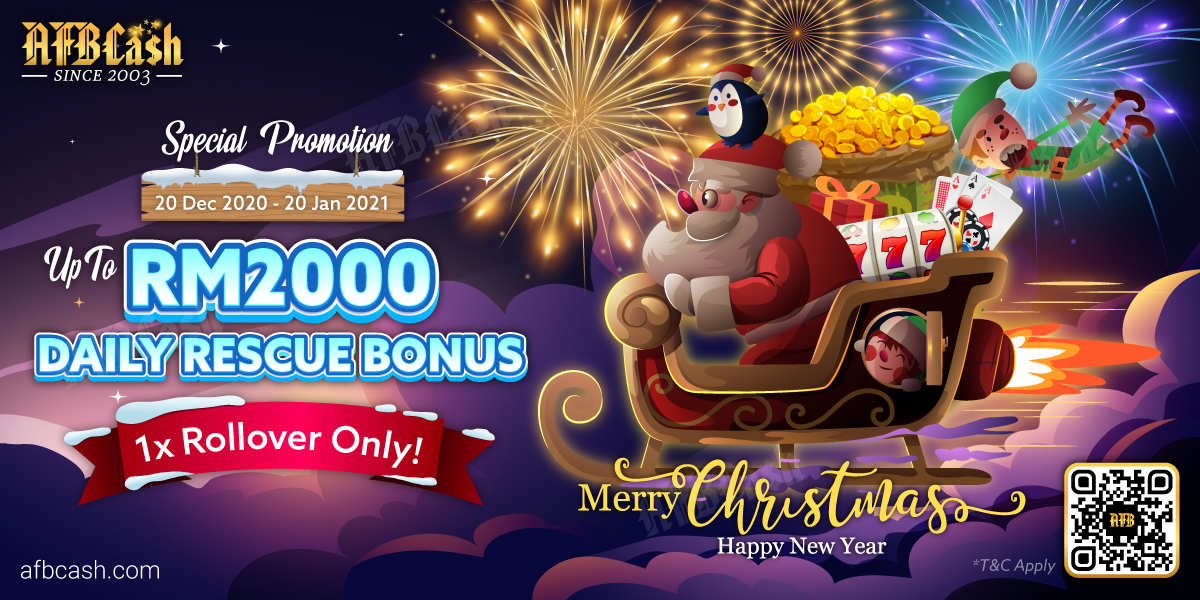 Christmas & New Year 2021 Bonanza Special 5% Daily Rescue Bonus